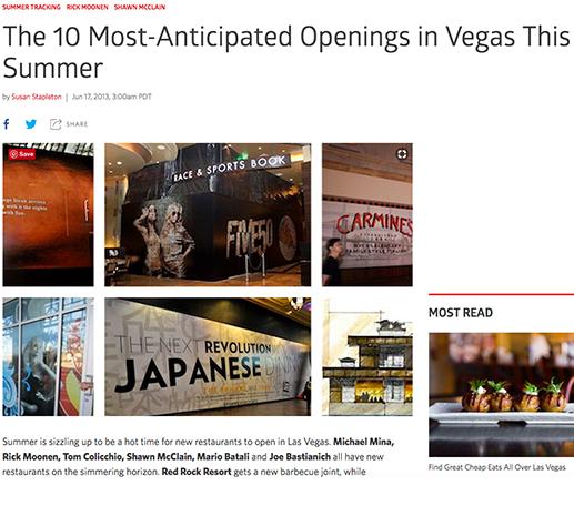 Las Vegas openings