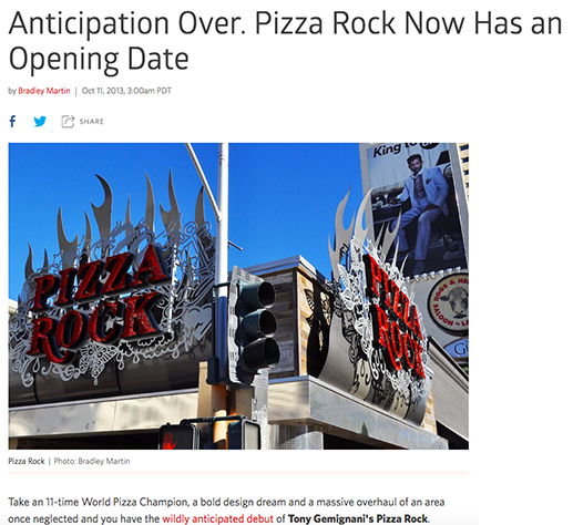 Pizza Rock - outdoor signs