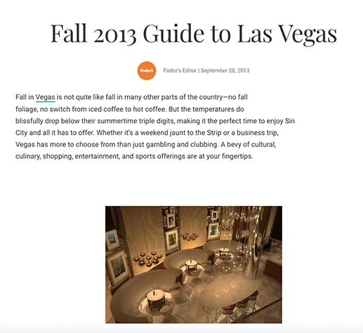 2013 Guide to Las Vegas