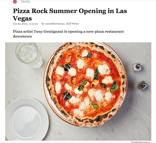 Pizza Rock Las Vegas opening