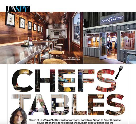 Chef's Tables - Las Vegas