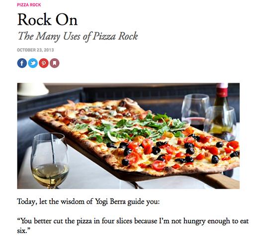 Rock on: Pizza Rock