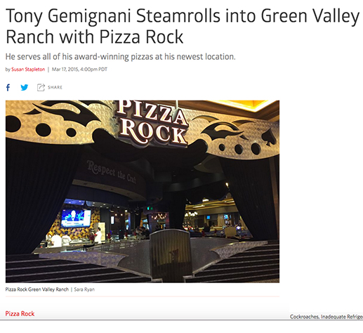 Pizza Rock's Newest Location: Green Valley Ranch