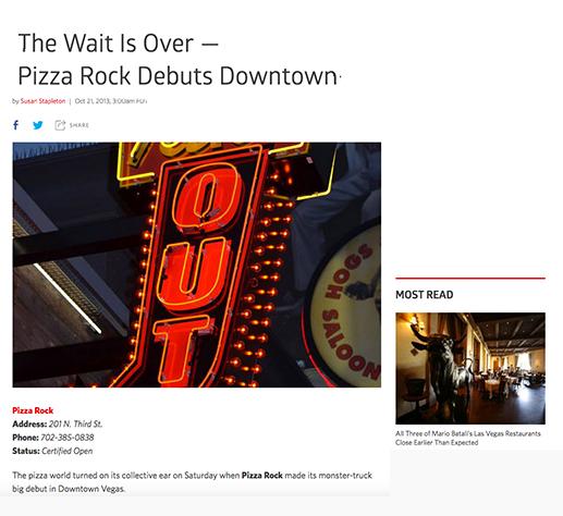 Pizza Rock debuts downtown
