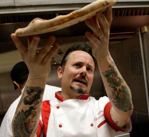 Tony Gemignani Tossing a Pizza