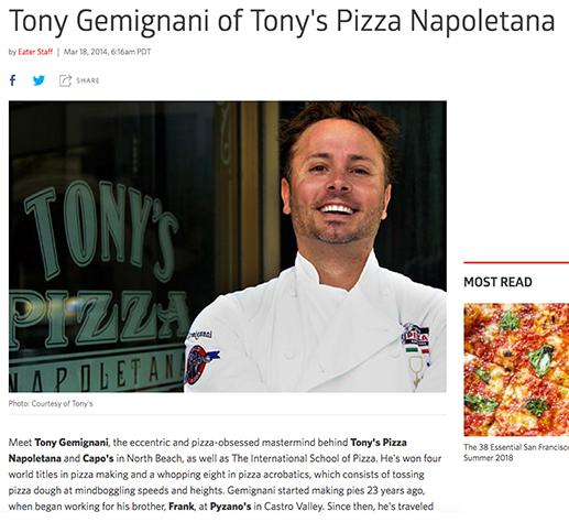 Tony Gemignani's Pizza Napoletana