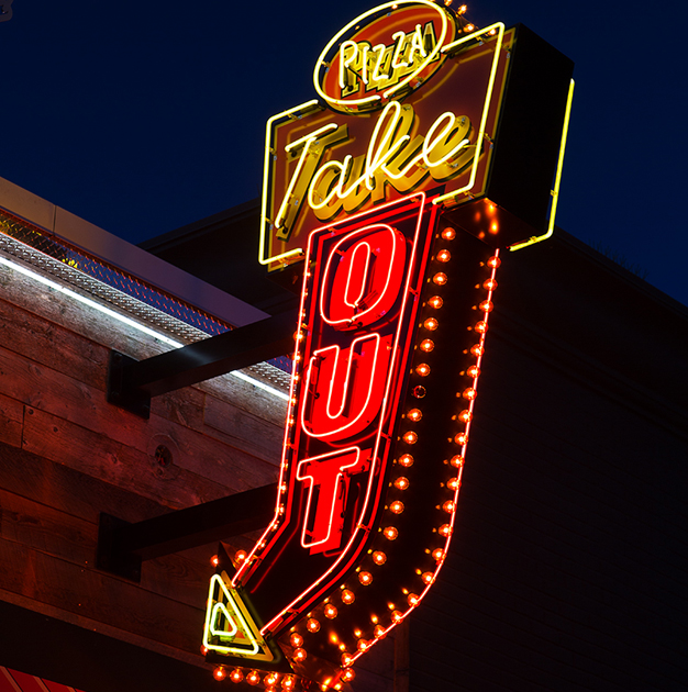 Neon Sign - Pizza Take Out